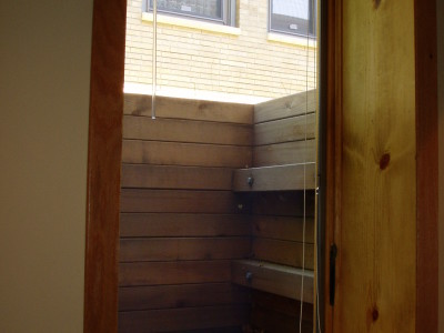 Egress Window – Wood Timbers